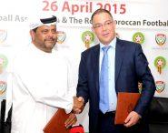 اتفاقية تعاون و تبادل الخبرات بين الجامعة الملكية المغربية لكرة القدم ونظيرتها الإماراتية