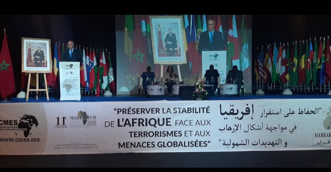 """انطلاق أشغال الدورة الحادية عشرة من المؤتمر الدولي منتدى مراكش للأمن 2020 ، تحت شعار """"الحفاظ على استقرار إفريقيا في مواجهة أشكال الإرهاب والتهديدات الشمولية"""""""