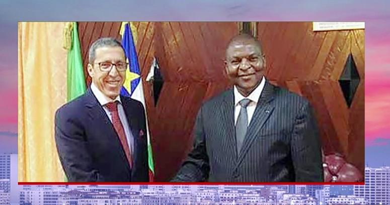 رئيس جمهورية إفريقيا الوسطى يستقبل السفير عمر هلال