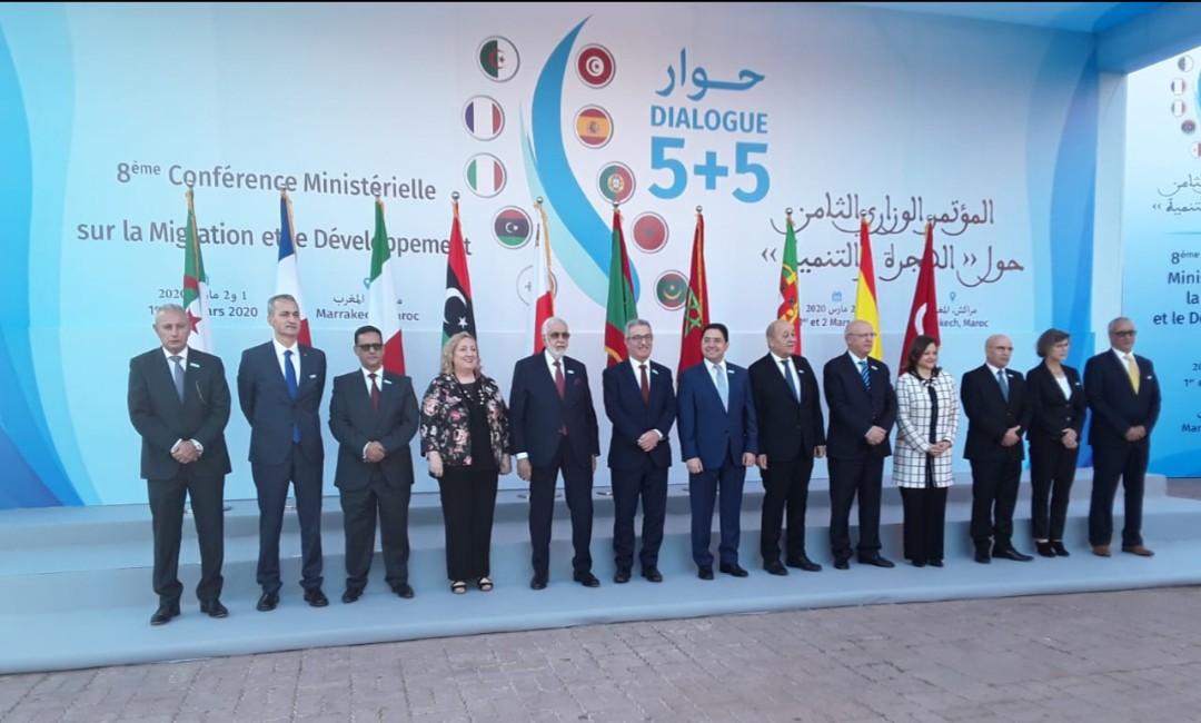 وزراء خارجية عرب واجانب يلتئمون بمراكش من اجل المؤتمر التامن للحوار 5 +5حول الهجرة والتنمية